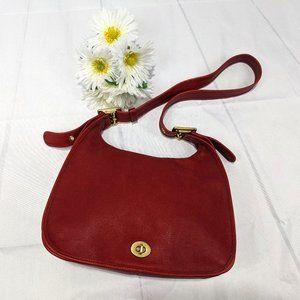 Vintage Coach Red Legacy 9718 Hobo Shoulder Bag
